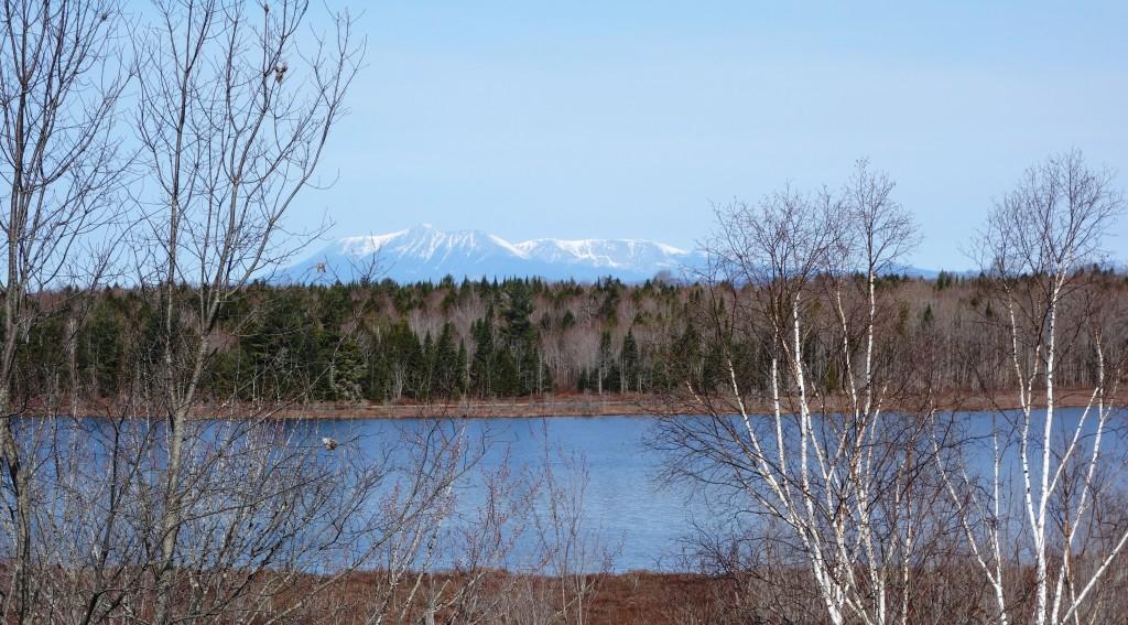 View of Mount Katahdin on way through Maine to the Miramichi